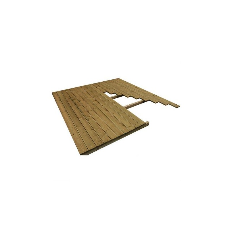 plancher pour abri de jardin en bois massif 12m trait et. Black Bedroom Furniture Sets. Home Design Ideas