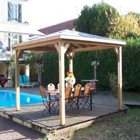Pool house en bois thermo traité 12,32m² BLUETERM - HABRITA
